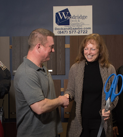 President Eric Hoffman with Mayor Laura Majikes Ribbon Cutting