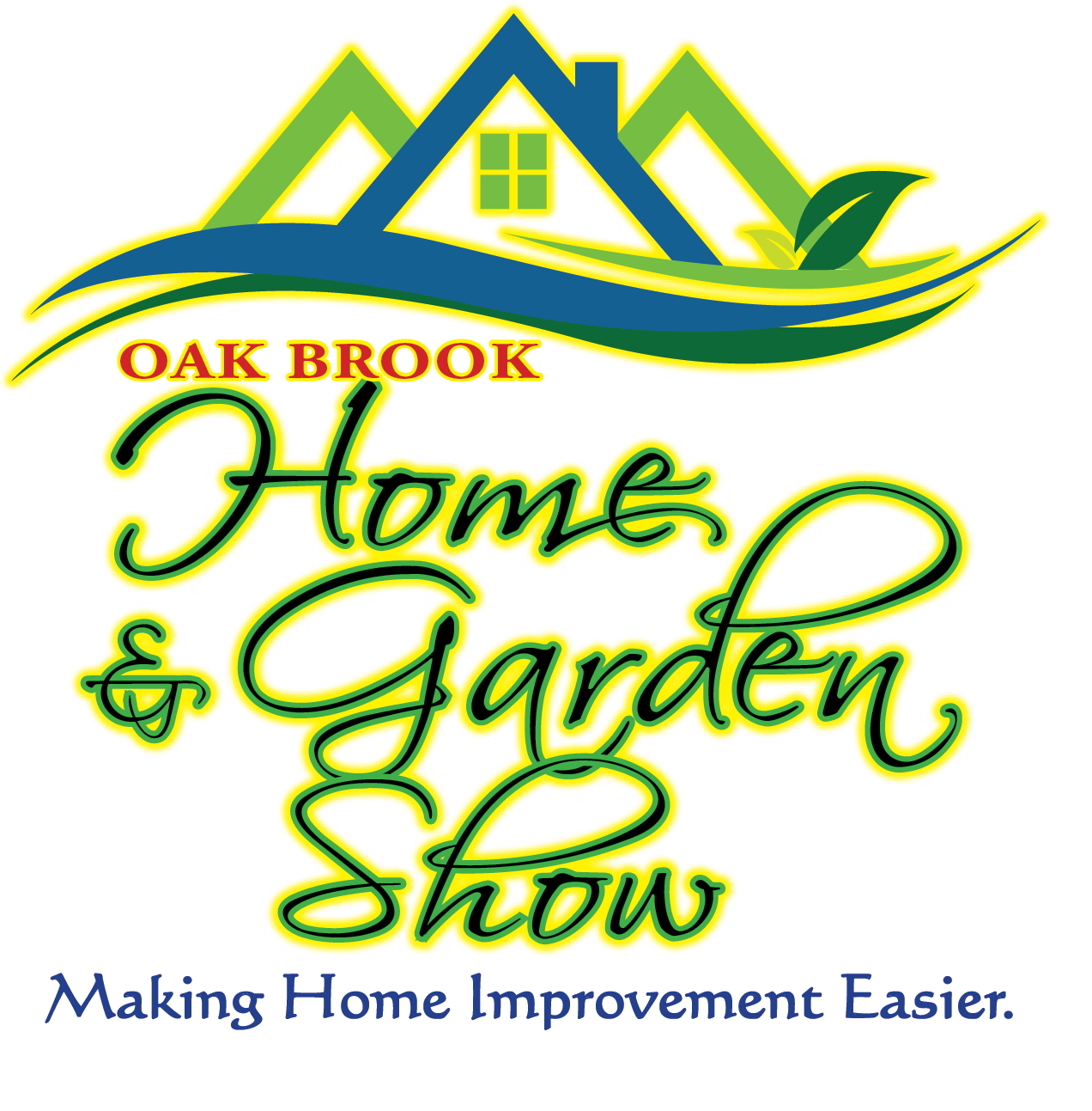 Oak Brook Home Show Logo Square Slogan