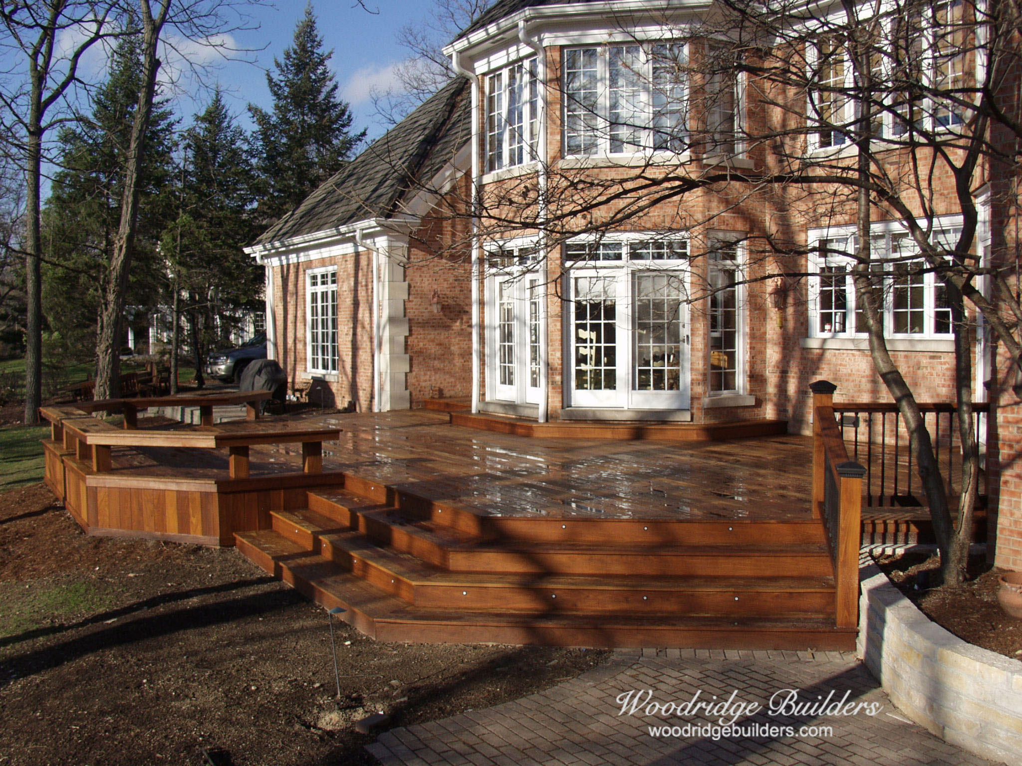 I-02 Ipe Deck and Benches with Dekor Balusters