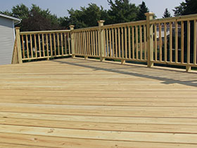 Treated Decking Material